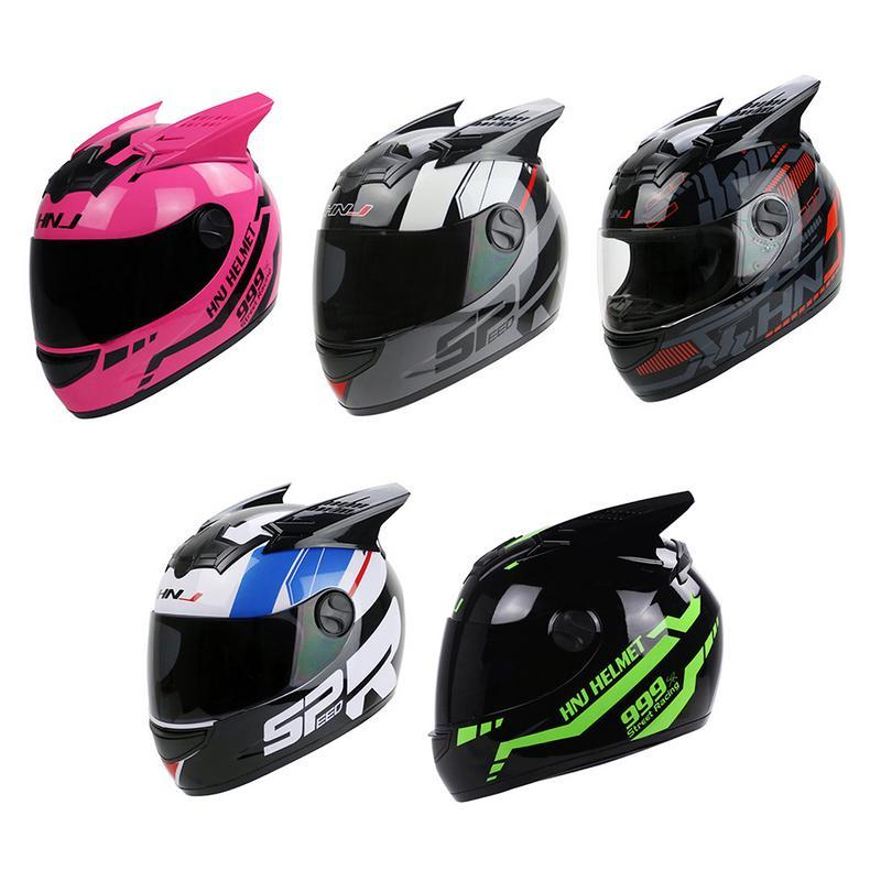 565a16e0 Motorcycle Helmet Men's Double Lens Full-cover Helmet Running Racing  Locomotive Winter Anti-fog Four Seasons