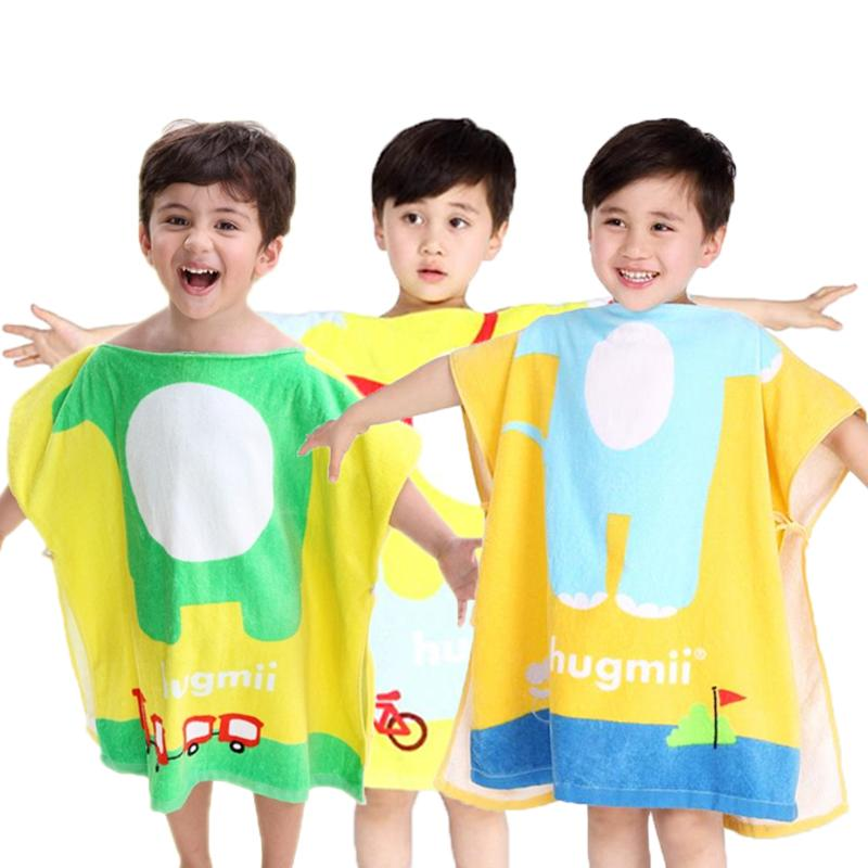 c38eaf0d89f7 2019 Korean Style Children Bathrobe Baby Kids Cotton Cartoon Cape ...