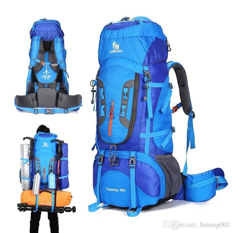 b29316ee09 Acquista 80L Campeggio Trekking Zaino Alpinismo Borsa Grande Capacità Trekking  Zaino Outdoor Zaino Trekking Campeggio Tenda In Alluminio # 159087 A  $104.53 ...