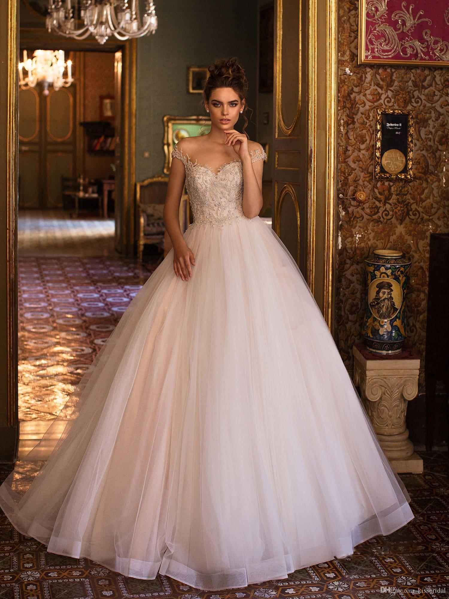 Discount Vestido De Novia Corset Wedding Dresses Beaded Bodice Short