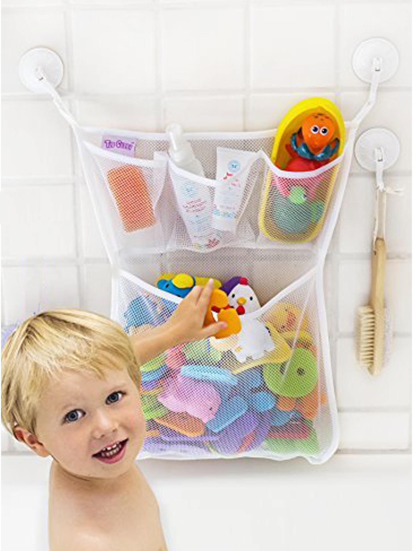 Baby Bath Bathtub Toy Mesh Net Storage Bag Organizer Holder Bathroom White Baby Bath Toys