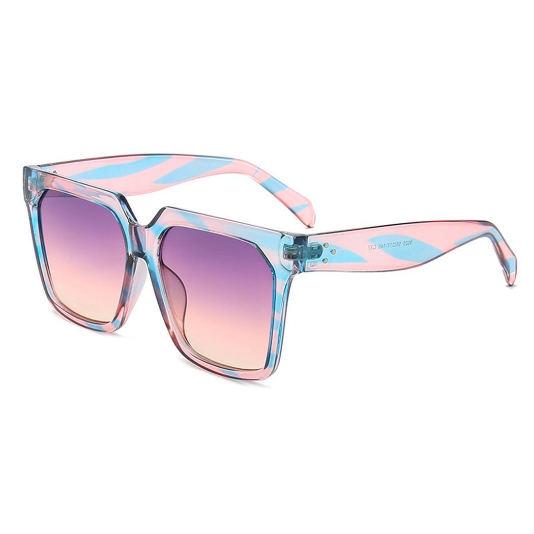 Shades Verano Moda Sol Cuadradas Pc 6 De Protección Sunglass Claro Gradient Mujeres Uv400 Lente Colores Gafas D9eW2YEHI