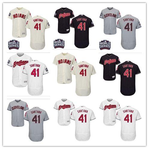 363394ebd 2018 Cleveland Indians Jerseys #41 Carlos Santana Jerseys  men#WOMEN#YOUTH#Men's Baseball Jersey Majestic Stitched Professional  sportswear
