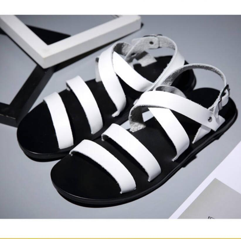 Plage Pour Respirant Sandales Hommes Chaussures Gladiateur D'été Hombre Zapatillas Cuir Boucle Cochon En rdEQCoeWxB