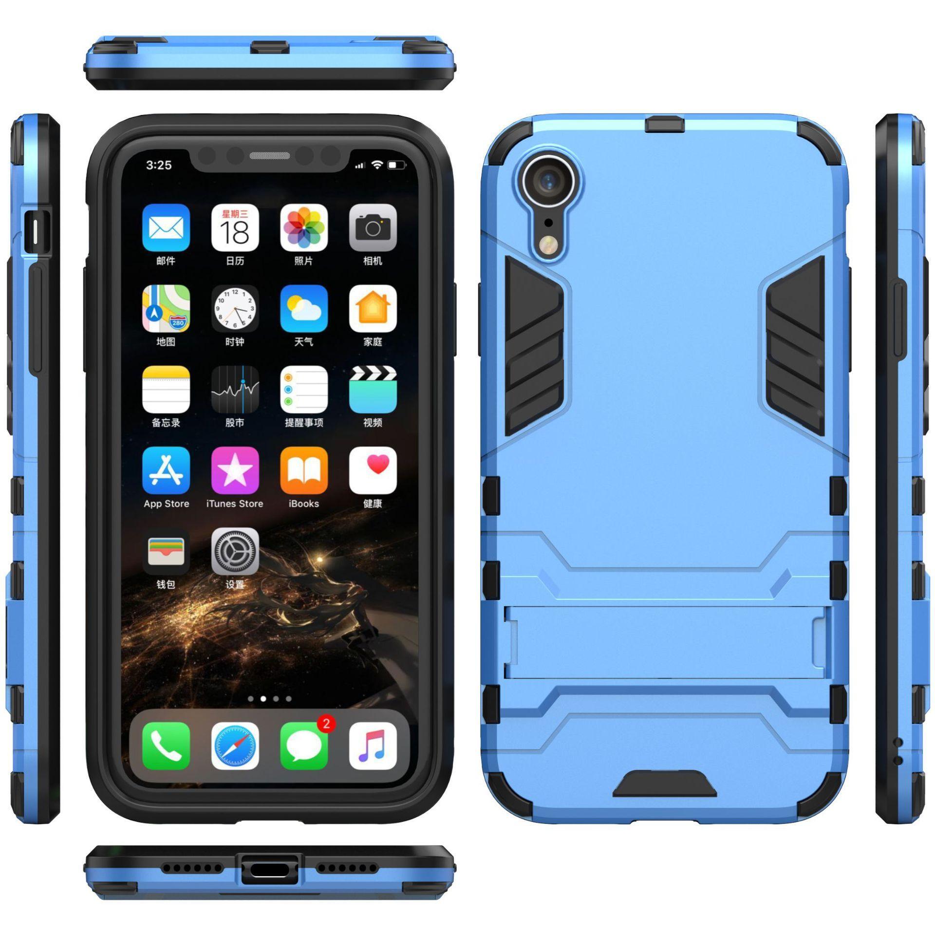 7c076c62f96 Fundas De Celulares Para El IPhone 5 6 7 8 Plus Armadura Dos En Uno Estuche  De Soporte Resistente A La Rotura Estuche De Hombre De Hierro Para Iphone  XS Max ...