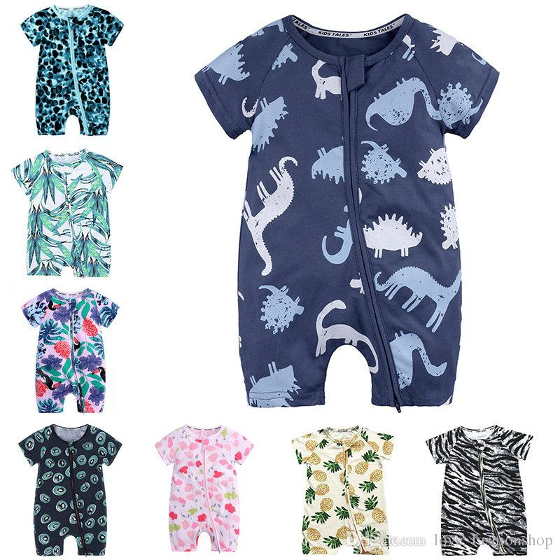 0cffbd74b270a 2019 Baby Romper INS Summer Short Sleeve Cartoon Cotton Robe Jumpsuit One  Piece Jumpsuits Rompers Baby Infant Boy Designer Clothes From  Love_fashionshop, ...