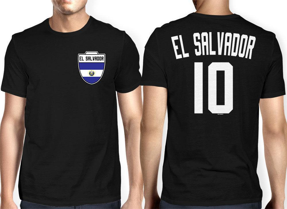 0c9042057 El Salvador Jersey Soccer Futbol Sports Crest Country Pride Mens T Shirt  Family Top Tee Tee Printing 2018 Summer 100% Cotton Short Sleeve Printing  Of T ...