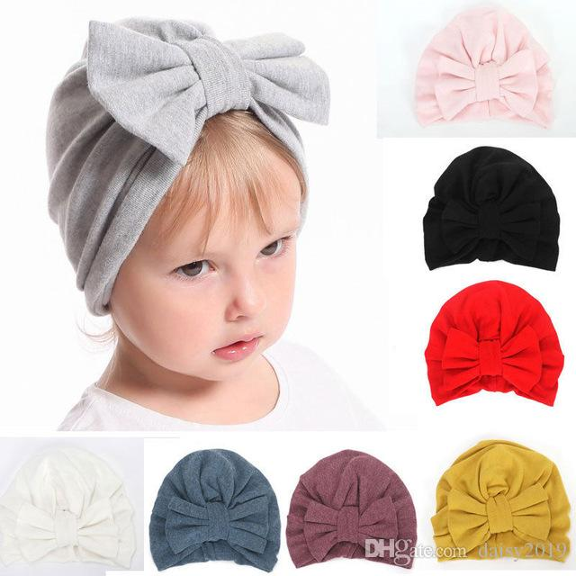 b81b1b1f549 Hats Cotton Newborn Baby Infant Girl Toddler Comfy Bowknot Hospital Cap  Beanie Hat Baby Accessories