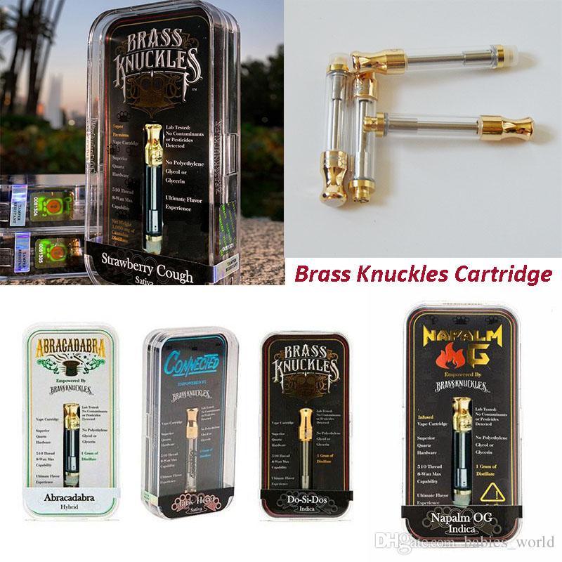 New Brass Knuckles Vape Cartridge Packaging 1ml Ceramic Empty Vape Pen  Cartridges 510 Thread Battery Dab Pen Wax Vaporizer E Cigarette