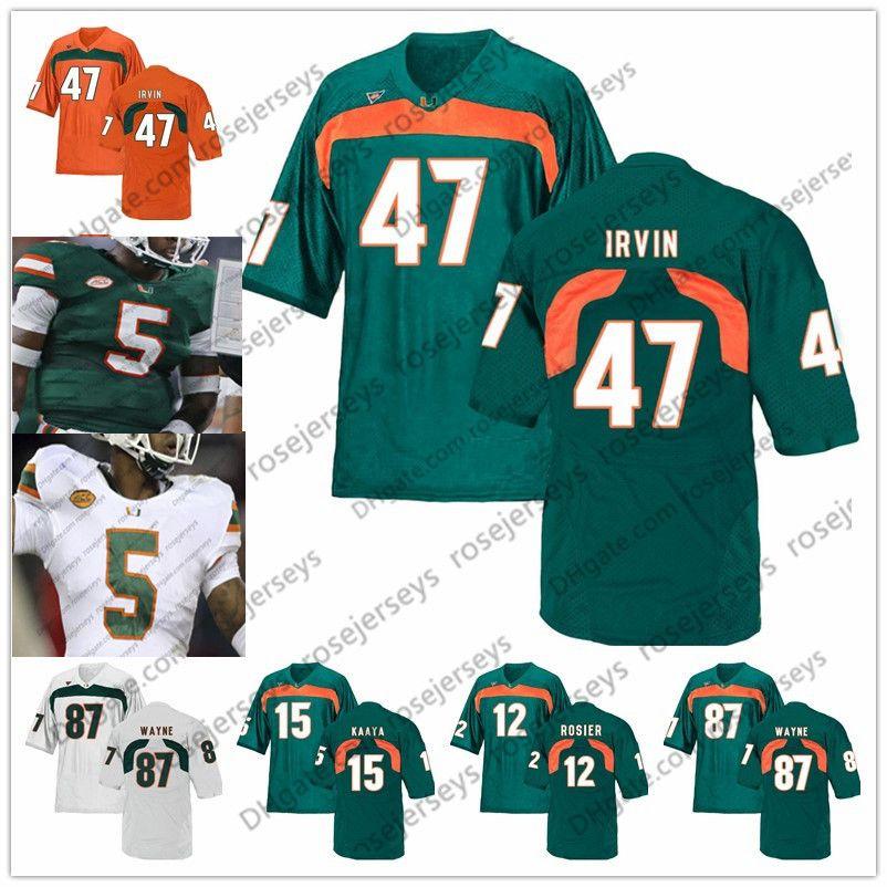 super popular d9c59 d7b3e NCAA Miami Hurricanes #3 Frank Gore Travis Benjamin 47 Michael Irvin 80  Jimmy Graham 94 Dwayne Johnson The Rock Retired Football Jersey