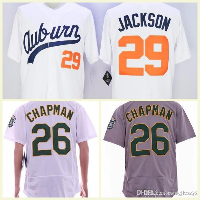 wholesale dealer 9baa4 50649 Men's VINTAGE Baseball jersey cheap Auburn Tigers Bo Jackson Jersey White  #29 Bo Jackson Auburn Tigers University Jerseys Free shipping