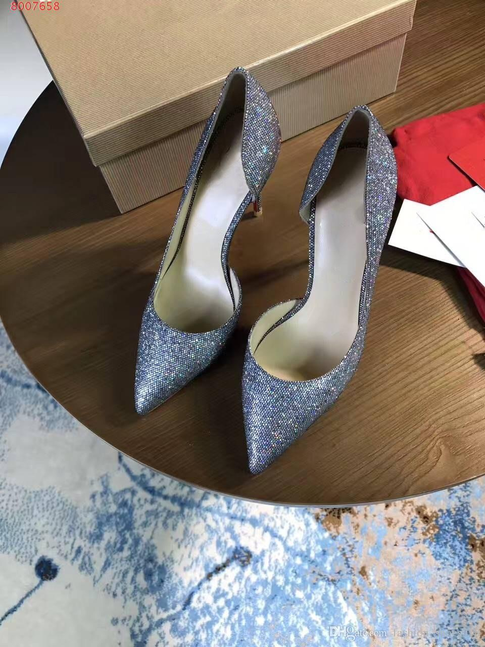 16fa14d206a1 Top Quality 2018 Women Shoes High Heels Sexy Pointed Toe Heel High 8 ...