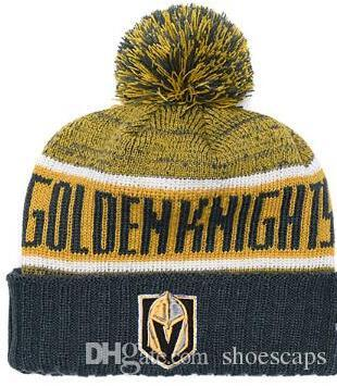 Discount Sport Knit Hat Vegas Golden Knights Beanie Football Sideline Cold  Weather Hats Fashion Beanies Winter Warm Knitted Wool Skull Cap Cheap Hats  Women ... dc527826c0d