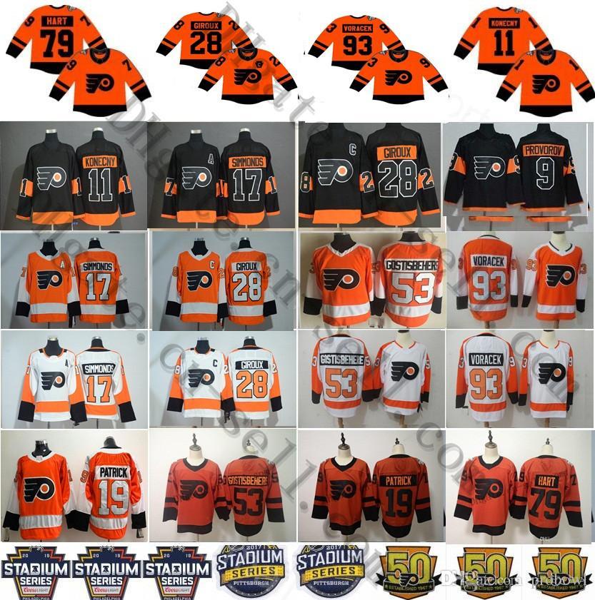 2019 2019 Stadium Series Philadelphia Flyers Jerseys 28 Claude Giroux  Konecny Shayne Gostisbehere Wayne Simmonds Voracek Provorov Hart Patrick  From Probowl 54e81703d