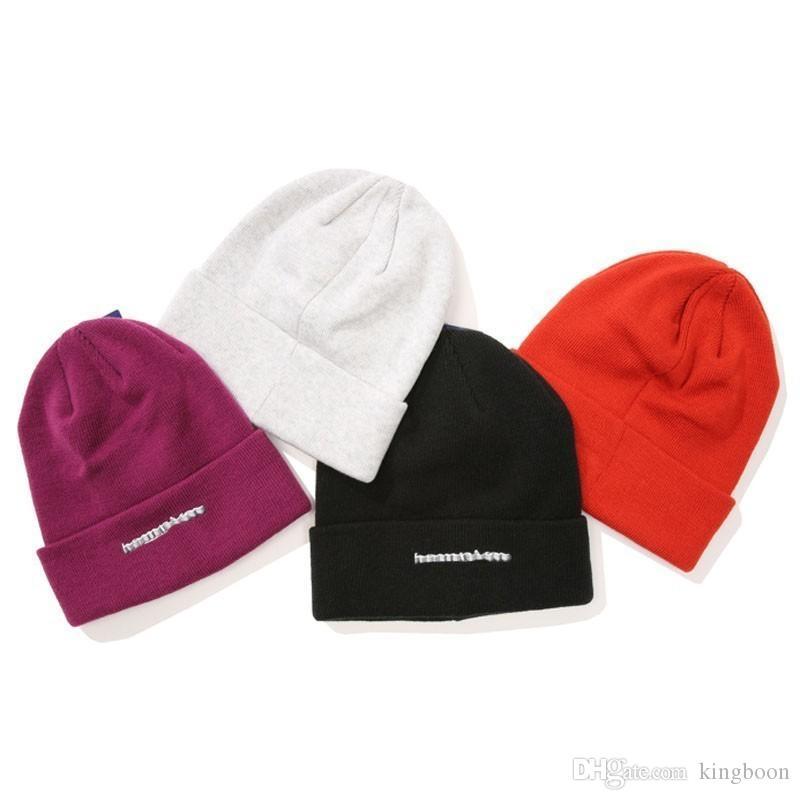 2019 18FW Box Logo X Cham 3D Metallic Beanie Cold Cap Knitted Hat Cap  Street Travel Casual Autumn Winter Hat Warm Outdoor Sport Hats HFYMMZ015  From Kingboon ... 6118368d18b