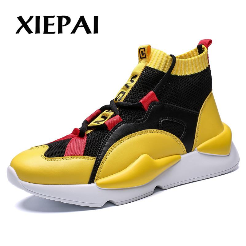 aa3c267735b7d4 Acheter XIEPAI Mens Automne Hiver Baskets Haut Marque Marque Chaussures  Casual Chaussures Hommes Casual Hommes Chaussure De Mode Hommes Zapatos De  $39.16 Du ...