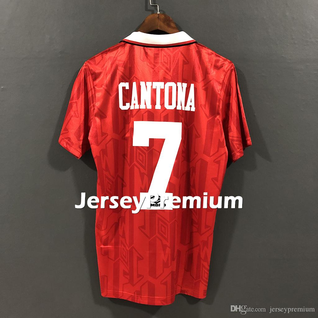 64e1d98ab 2019 Man Utd Retro 1992 1994 Home Football Soccer Jerseys Red Shirts Eric  Cantona Brian McClair Mark Hughes Ryan Giggs From Jerseypremium