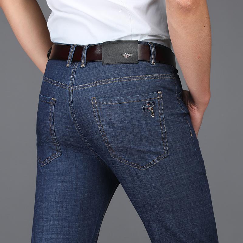 6681e742c Compre ICPANS Pantalones De Mezclilla Para Hombre Pantalones Vaqueros De  Hombre Primavera Y Verano Pantalones Vaqueros De Negocios Para Hombres  Pantalones ...