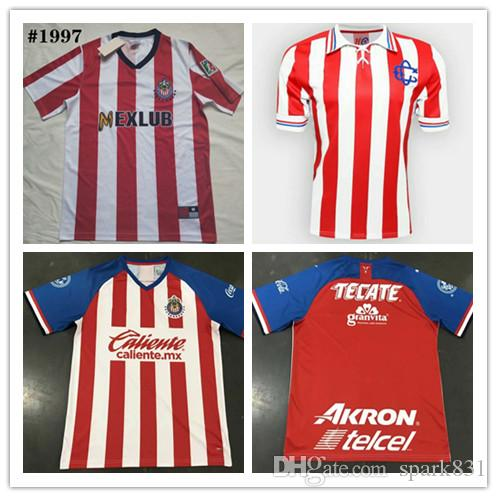 on sale 77e47 3eb61 1997 Chivas Retro soccer jerseys 97 Chivas classic Vintage version 2007  Guadalajara 110 years Retro football shirt size S-2XL