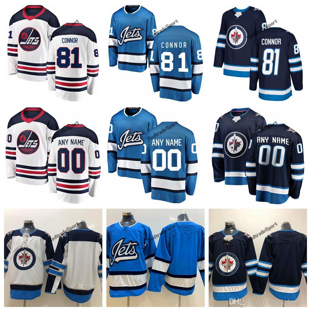 3d5b0a08e4f 2019 2019 Heritage White Winnipeg Jets Kyle Connor Hockey Jerseys Alternate  Baby Blue #81 Kyle Connor Stitched Jerseys Customize Name From  Redtradesport, ...