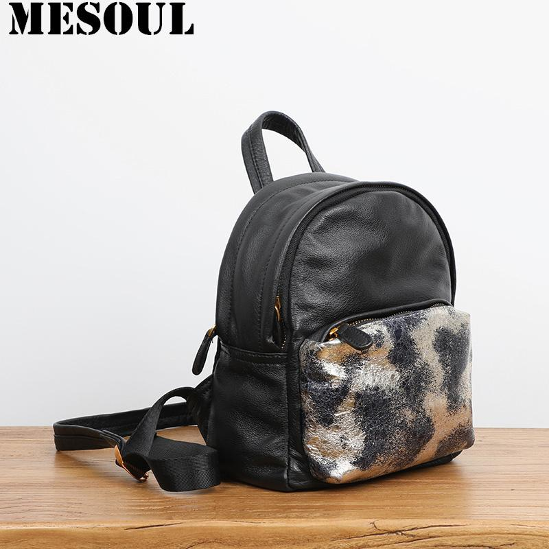 New Mini Backpack Women Bag 2019 Spring Design Fashion Luxury Brand Genuine  Leather Travel Small Backpack Female Shoulder Bags Travel Backpack Cute ... d50d618d0ffe0