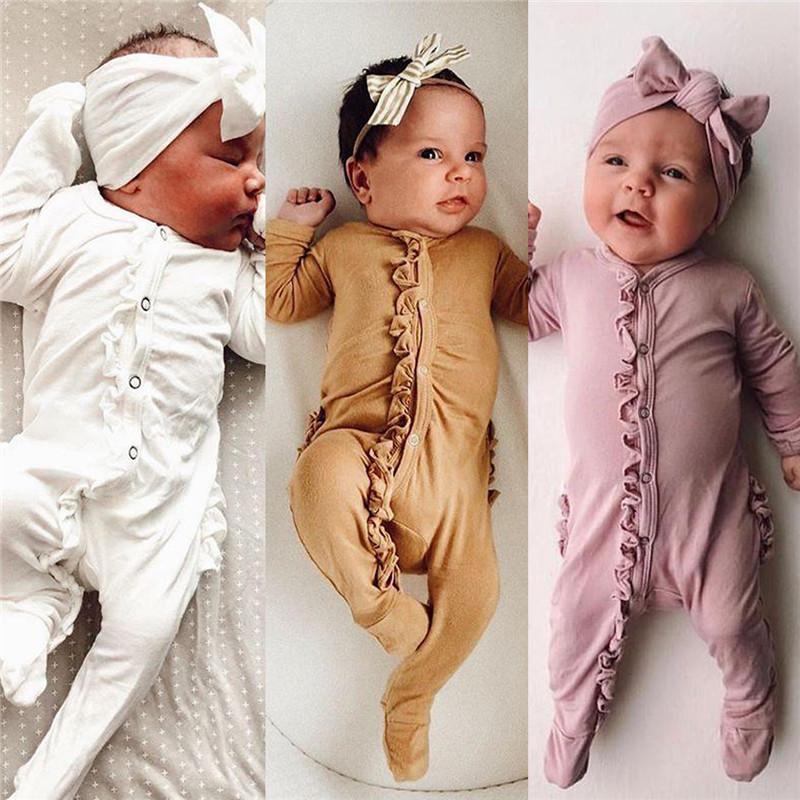 Niño recién nacido del bebé romper + Cinta de cabeza del mono traje de 2 piezas Conjunto Sólido