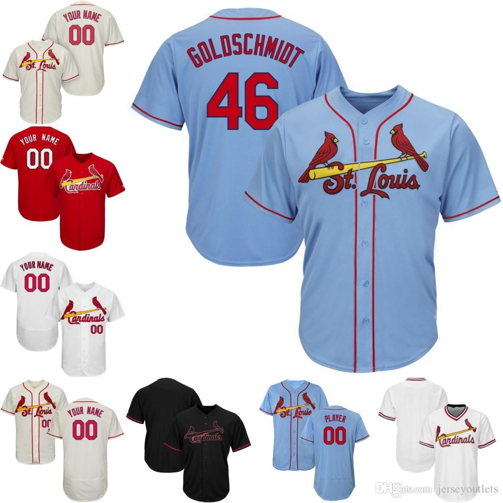 de04bd09cc8a Custom Men St. Louis CARDINALS Jersey Fowler Paul Goldschmidt ...