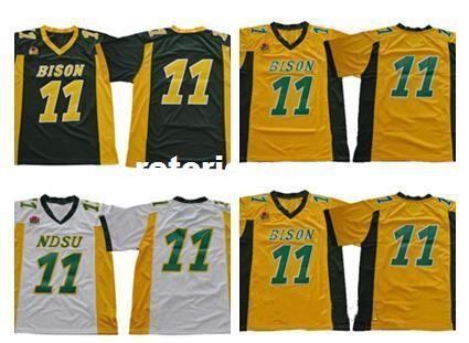 premium selection b9980 6769d NCAA NDSU Bison Carson Wentz Jersey 2019 Retro Yellow Gold Green White  (NDSU) North Dakota State Bison College Football Jerseys XS-3XL