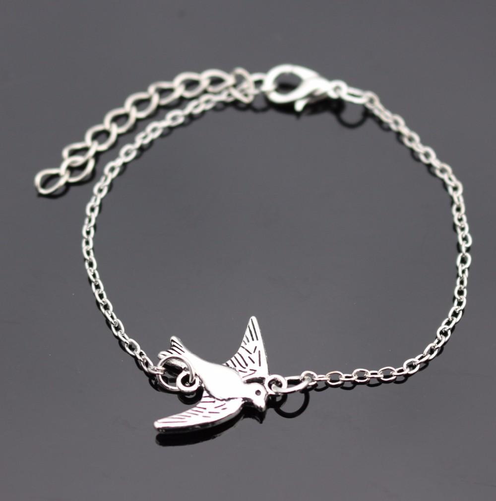 Hot Vintage Jewelry Charm Bracelets For Men Women Bangle Cross Heart Handcuff Bird Love Peace Eye Link Wrap Chain Bracelet Gift