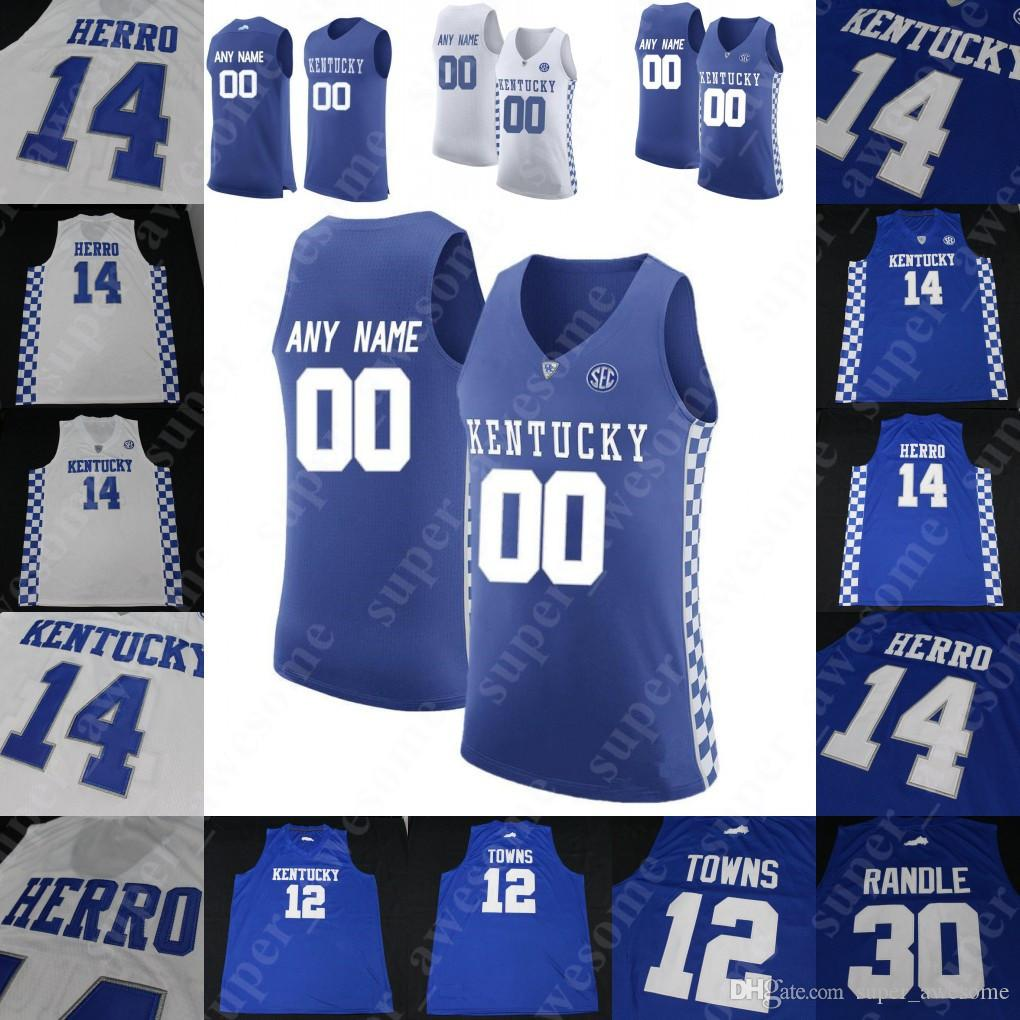 reputable site 204b6 eb9ce 2019 NCAA Kentucky Wildcats College Basketball Jersey PJ Washington Tyler  Herro Keldon Johnson Reid Travis Ashton Hagans Immanuel Quickley Green From  ...