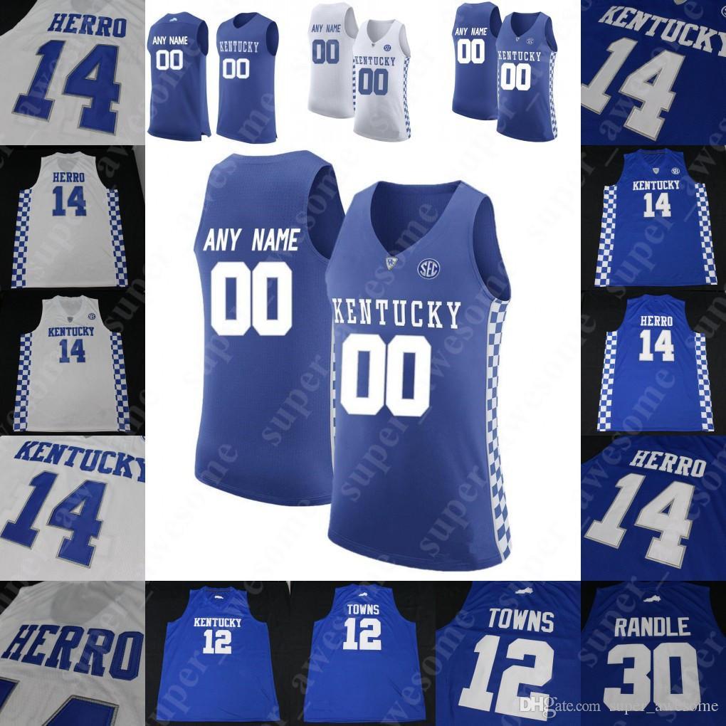 c68568bcce9e 2019 NCAA Kentucky Wildcats College Basketball Jersey PJ Washington Tyler  Herro Keldon Johnson Reid Travis Ashton Hagans Immanuel Quickley Green From  ...
