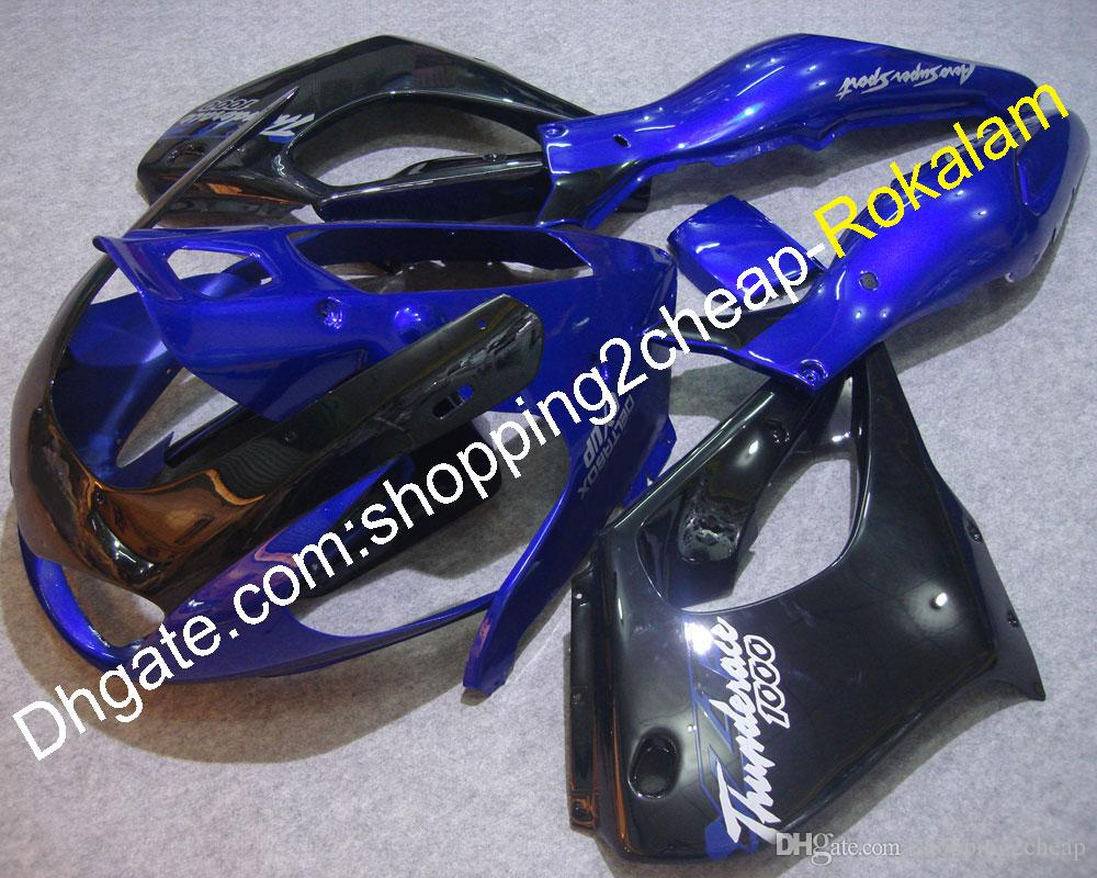 YZF1000R 97-07 Body kit For Yamaha YZF 1000 1997-2007 Parts Thunderace ABS Fairing Kit Blue Black Motorcycle Fairing