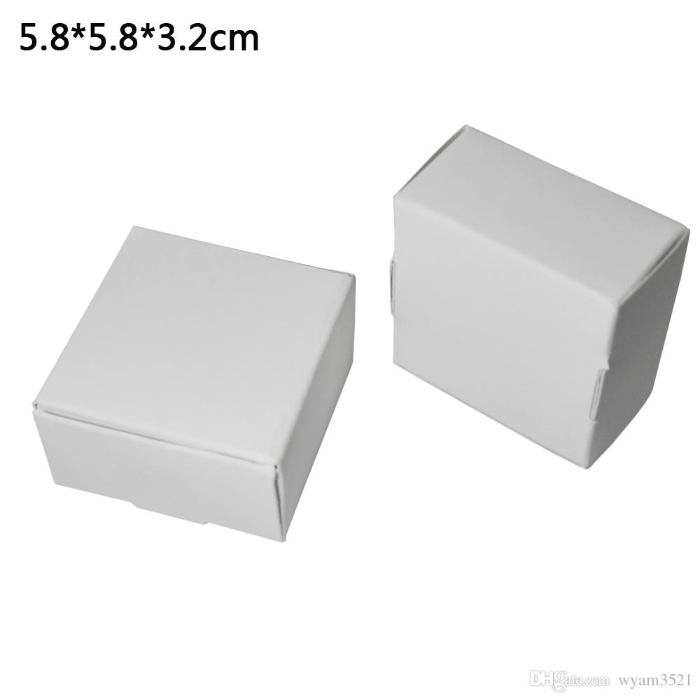 5.8*5.8*3.2cm White Paper Carton Gift Box Candy Boutiques Storage Box Decor  Party Box Kraft Paper Jewelry Cardboard Package Boxes Cheapest Place To Get  ...
