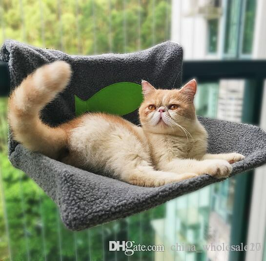 Free Shipping Multifunction Cat Hammock Mount Window Heaters Cage Cat Hammock Bed Cat Snuggle Bed Cushion Warm Soft Sleeping Mat