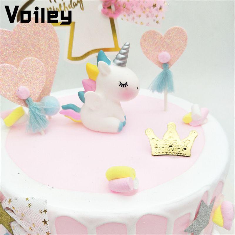 Acheter Voiley Décorations De Mariage Babyshower Licorne Gâteau