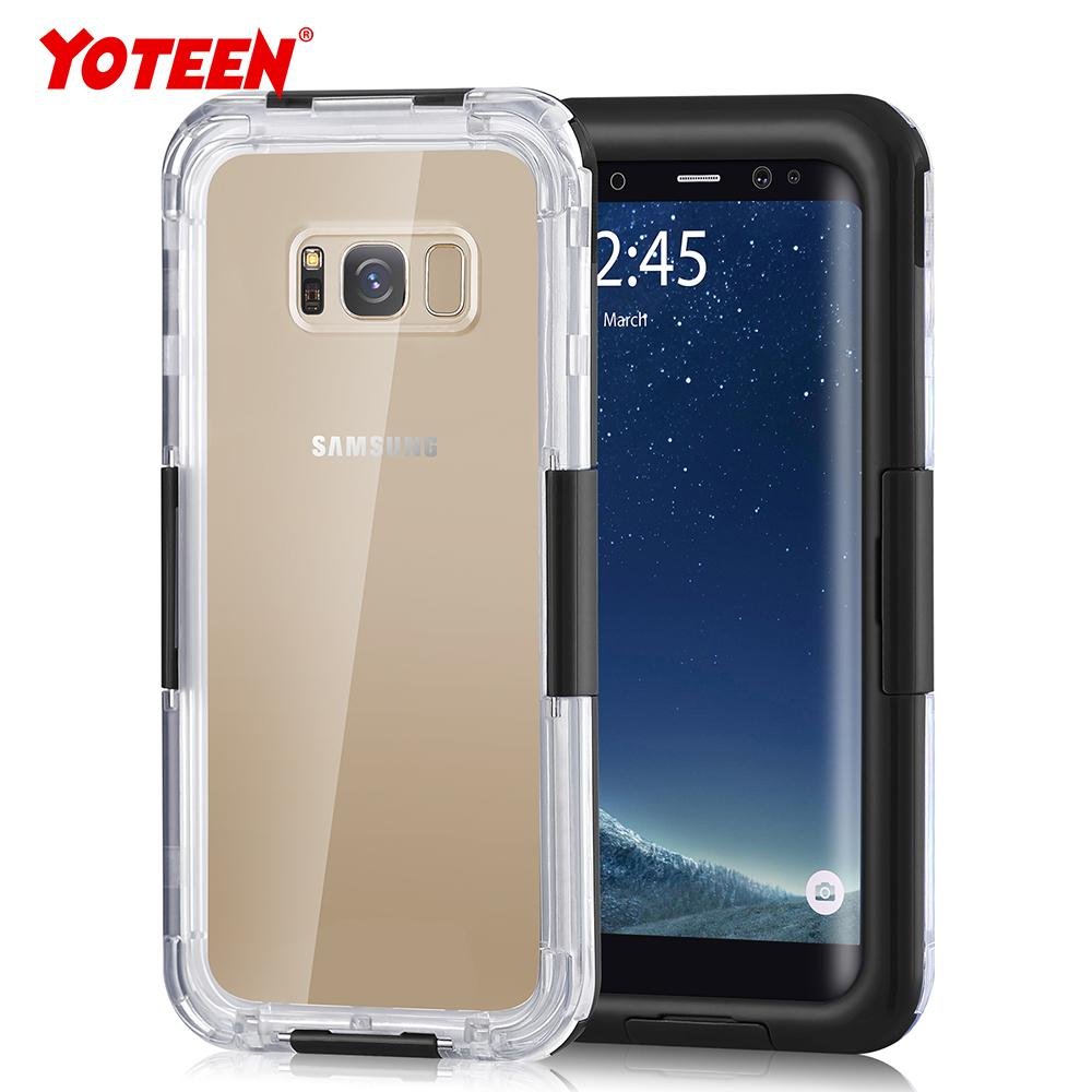 best service 1e3f7 8316a Yoteen Diving Case IP68 Waterproof Case for Samsung Galaxy S6 S7 edge S8 S9  plus Note 8 Mobile Phone Case Shockproof Dustproof