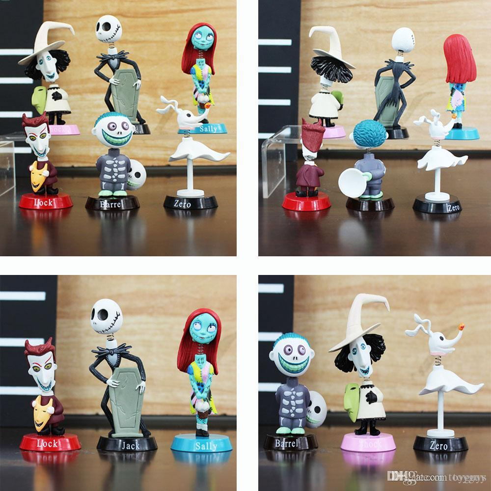 2019 nightmare before christmas anime action figures dolls toys pvc 5 7cm jack skellington sally limited edition collection dolls for kids toys from toyguy