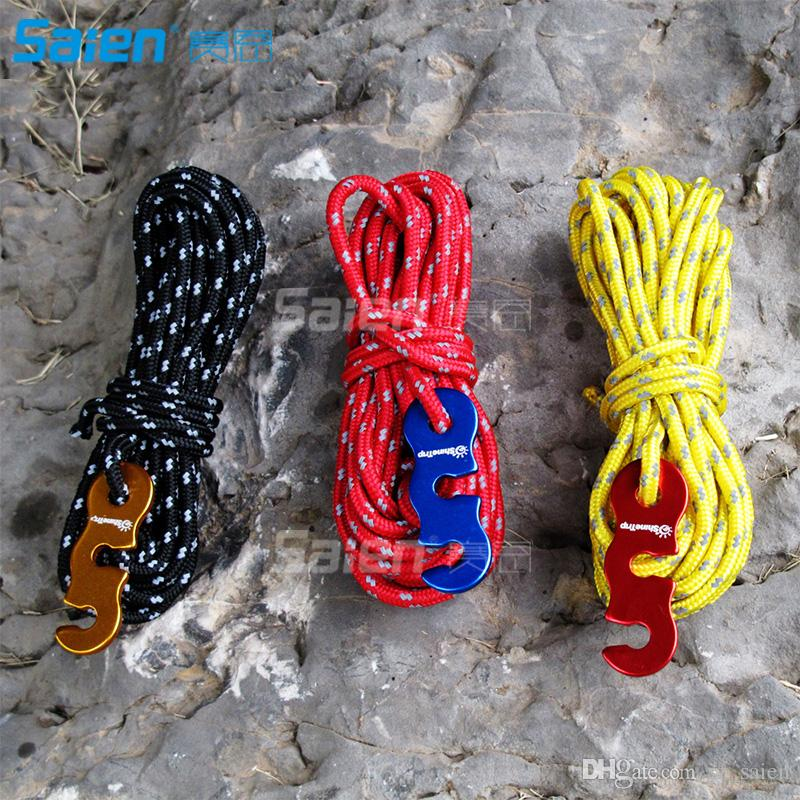 3mm Reflective Tent Rope Camping Guyline Cord with Aluminum Adjuster(13  Feet,4 Pack), Intensity Reflective and Durable, Essential Camping
