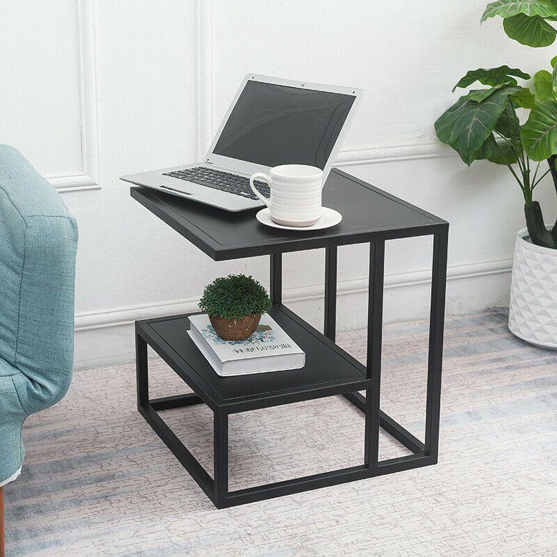 Sensational Minimal Square Metal 2 Tiers Lounge Sofa Side Tables Bedside Desk In Black Gold Inzonedesignstudio Interior Chair Design Inzonedesignstudiocom