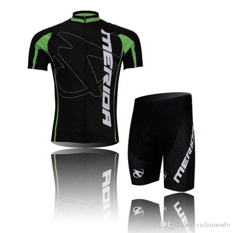 NEW MERIDA team 2019 Cycling Short Sleeves jersey bib shorts sets riding bike Summer breathable wear clothing 53165