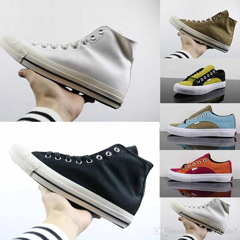 c8412085813b13 Campus Style Youth Women Men Canvas Low Mid Cut Shoes Outdoor Fashion  Casual Flat Shoes Durable Trainers Sports Sneakers Skateboard Shoes UK 2019  From ...