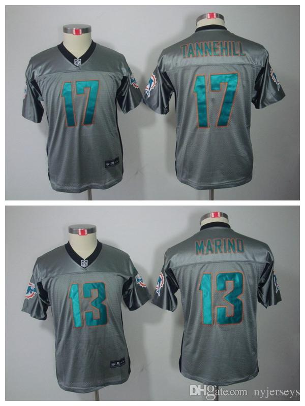 competitive price bfb67 da7ed Youth Miami Cameron Wake Jersey Dolphins 91 Football 13 Dan Marino 17 Ryan  Tannehill Green Orange White Kids Children