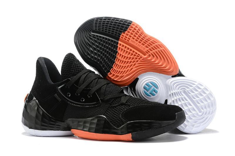 Beard 2019 Harden Vol.4 Basketball Shoes Top Quality Men Shoes James Vol 4 Bred Sneakers Black White Orange Mens Sports Trainers Size40-46