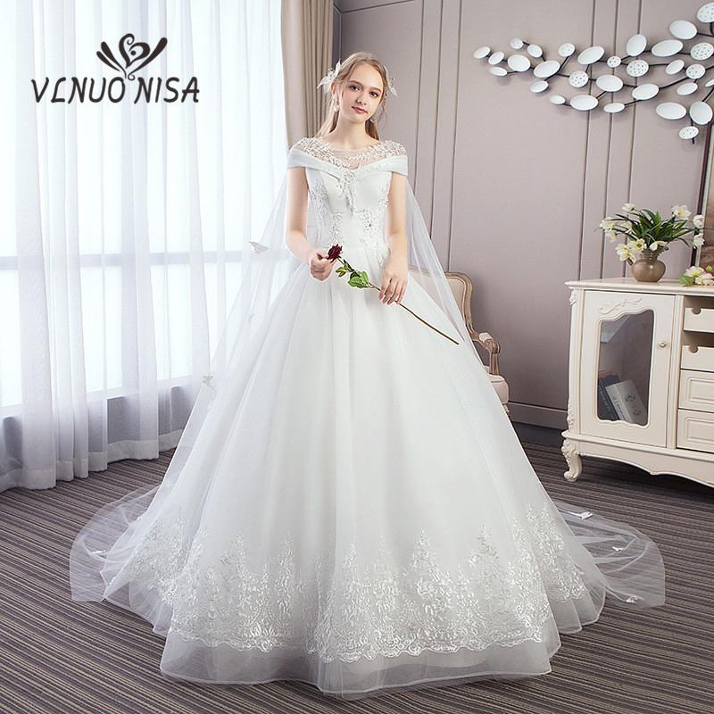 compre vestido de noiva vlnuo nisa vestido de novia de encaje blanco