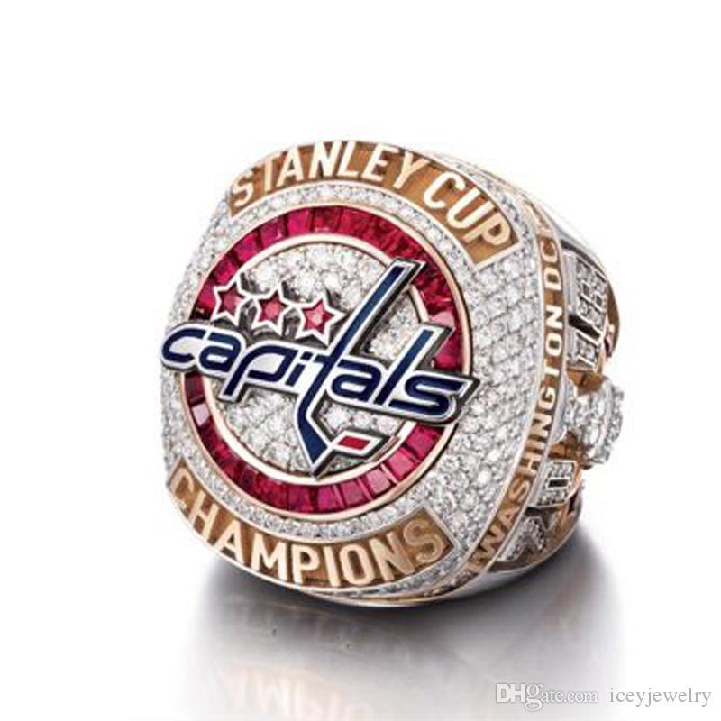 reputable site 5b28b 17e83 2018 NHL hockey Washington capital fan alloy champion ring with high  quality new spot full Ring