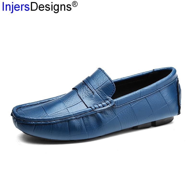 8c6637a97 Compre Homem De Couro Italiano Mocassins Designer Deslizamento Em Gommino  Sapatos De Condução Dos Homens De Alta Qualidade Da Marca De Moda Mocassins  Macios ...
