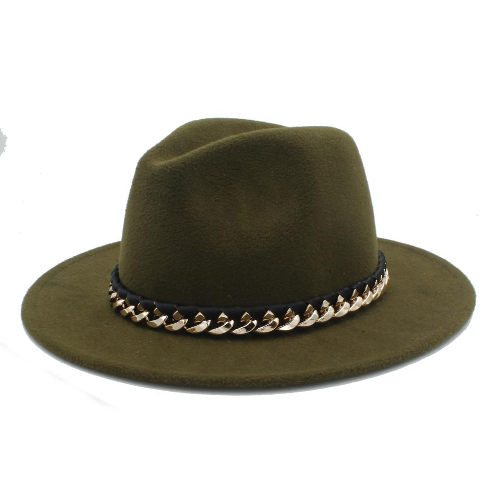 1683b1d1001f2 Unisex Women Men Wool Fedora Hat For Winter Autumn Floppy Chapeu Feminino  Cloche Wide Brim Jazz Sombrero Caps Size 56-58CM Wool Fedora Hat Jazz  Sombrero ...