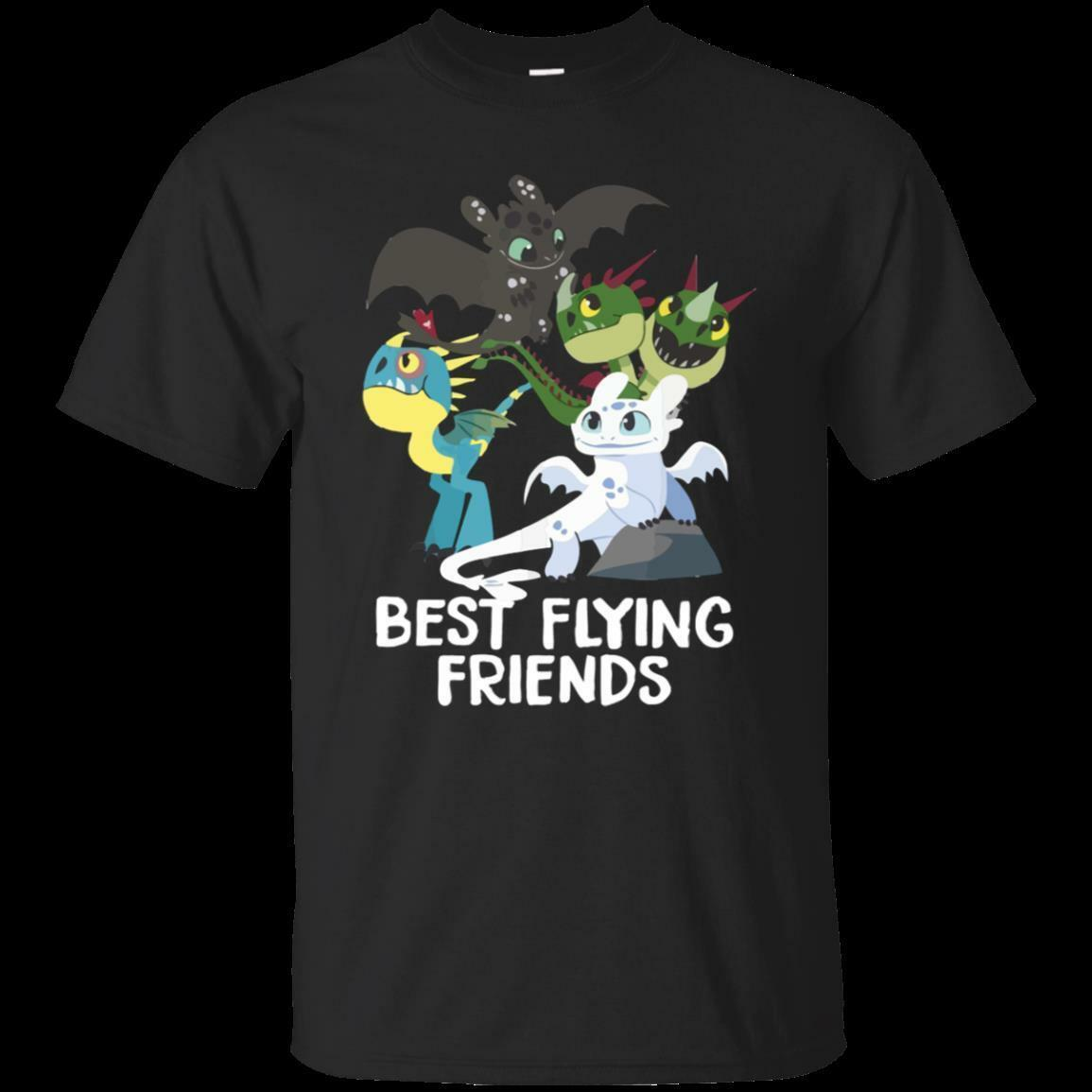 0c7bd8ea0 DreamWorks How To Train Your Dragon 3 Best Friends Black T Shirt Size S 5XL  Men Women Unisex Fashion Tshirt Black Silly Tee Shirts Tee Shirt Site From  ...