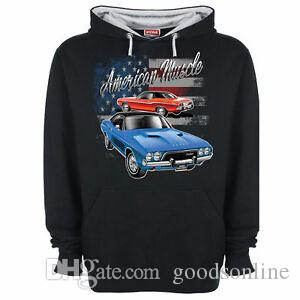 Dodge Challenger Hoody Hoodie American Muscle Licensed Classic Car Summer