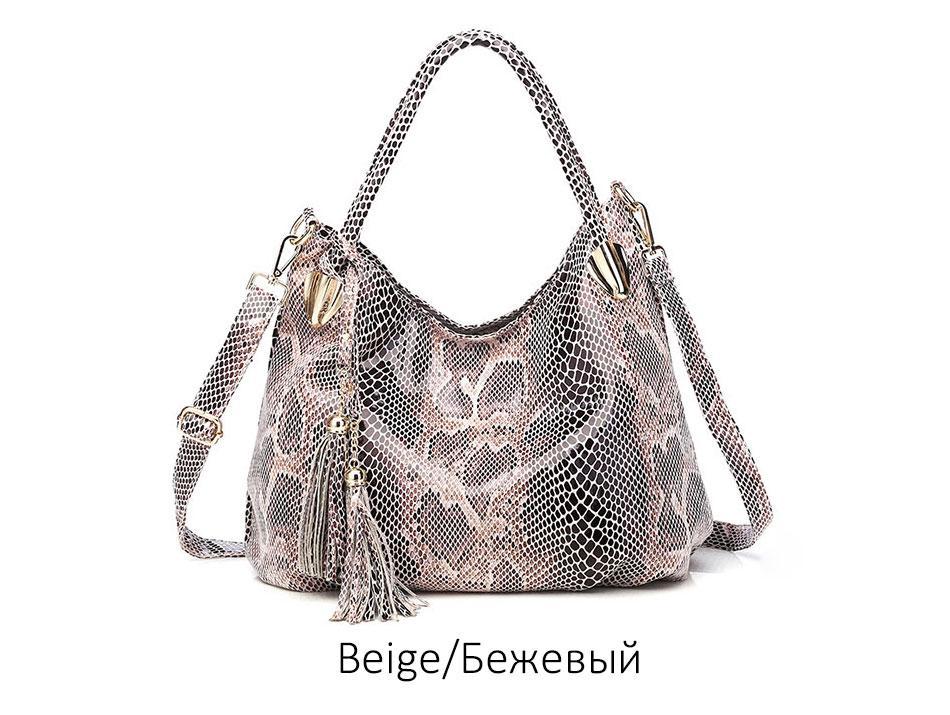 Tonny Kizz big handbags for women 2018 female shoulder bag serpentine leather tote bags high quality fashion hobos animal prints